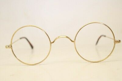 fd24ae7bc758 Gold Frame Eyeglasses Authentic Vintage Eyewear Antique Windsor Round 40mm