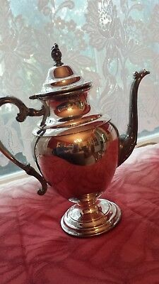Silver plated coffee pot, William Rogers, footed classic design