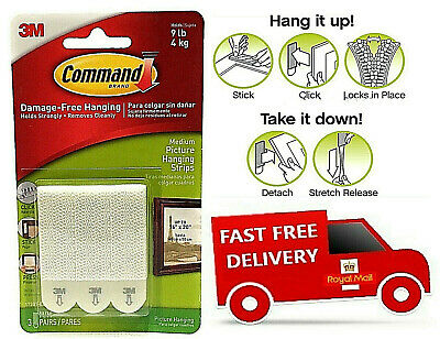 3M Command™ Picture Frame Damage Free Wall Hanging Adhesive Stick on Strips