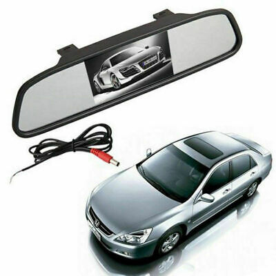 """4.3"""" LCD Rearview Mirror Monitor For In Car Truck Reverse Parking Camera Kit NEW"""