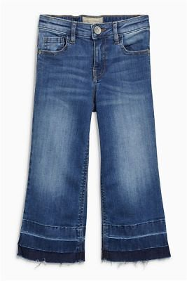 Next Girls Mid Blue Jeans Ankle Length Adjustable Waist Age 7 Years BNWT Tag £16
