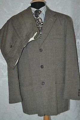 Le Collezioni Structure Men's Brown & Tan Suit Made in Italy Size L Waist 32