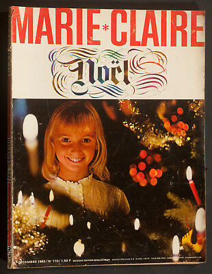 'Marie-Claire' French Vintage Magazine Christmas Issue December 1963