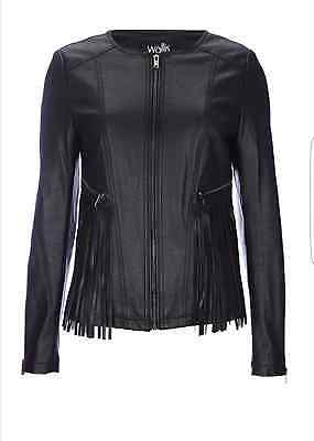 ca112b67c WALLIS FAUX LEATHER Biker Jacket With Detachable Faux Fur Collar ...