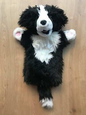 The Puppet Company BORDER COLLIE DOG Long Sleeved Hand Puppet Plush Soft Toy