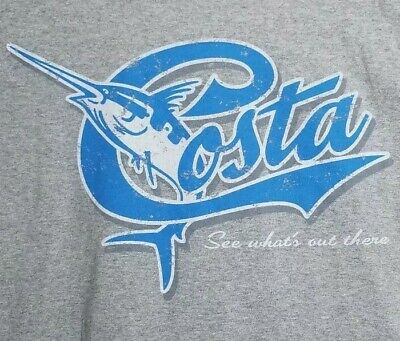 New Authentic Costa Del Mar Marlin White Short Sleeve T-Shirt 2XLarge