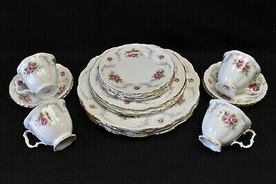 Royal Albert England Tranquillity Set of 4 Five Piece Place Settings - 20 Pieces