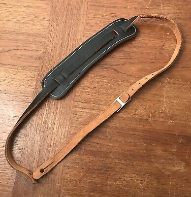 Vintage 1964 Pre-CBS Fender Guitar Strap, Black Leather