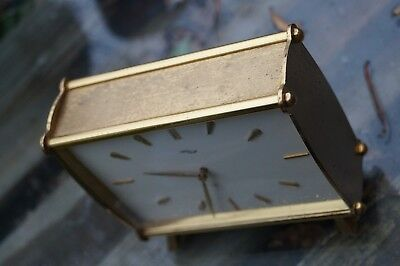 IMHOF lever escapement battery powered table clock.