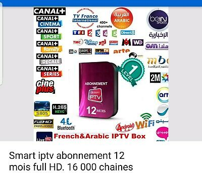 abonnement IPTV 3 mois Full HD international plus Adulte de 16200 CANON