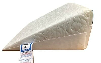 Bed Wedge Pillow Washable Quilted Poly Cotton Cover Multi Purpose Back Support