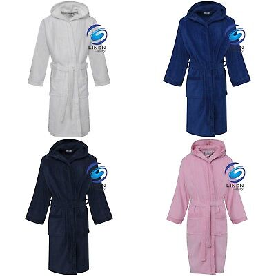 Boys and Girls Kids 100% Cotton Hooded Terry Towelling Bath Robe