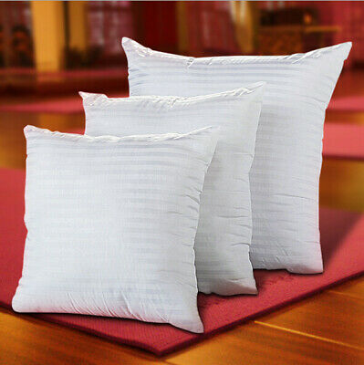 White Cotton Polyester Fill Cushion Inner Pillow Form Insert Square Multi Size