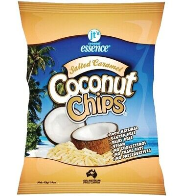 Jt's Salted Caramel Coconut Chips 40g x 10