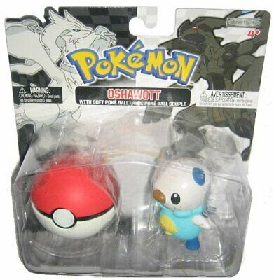Pokemon Blanco y Negro Oshawaott & Suave Pokeball Jakks Pacific Figura Set
