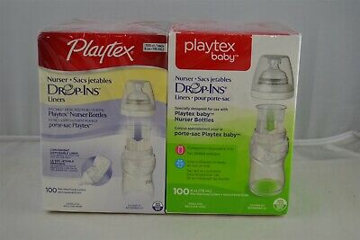 Playtex Baby Nurser Drop-Ins Disposable Liners, 4 Ounce - 100 Count (2 pack)