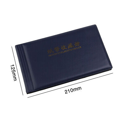 20 Pockets Banknote Stamps Protection Collection Leather Note Paper Money Album