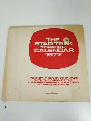 Star Trek Stardate 1977 Calendar Unopened In Original Mailing Box