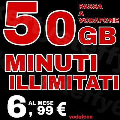 COUPON Passa a Vodafone  MINUTI ILLIMITATI 50 Gb 6.99€ x HO MOBILE E VIRTUALI