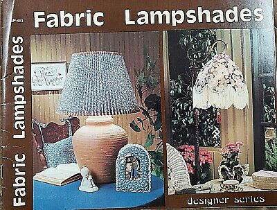 Vintage Craft Book: #GP-461  Fabric Lamp Shade Sewing Pattern Instructions