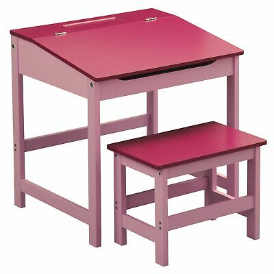 Childrens Pink Desk and Stool