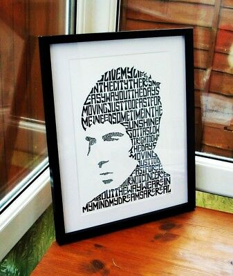 Oasis/L.Gallagher/Rock N Roll Star A3 size typography art print/poster