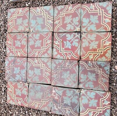 antique floor tiles,french encaustic tiles, Poteries de Pont de Briques