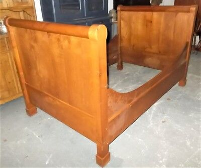 sleigh bed, antique french 3/4 bed, child's bed, wooden lit bateau