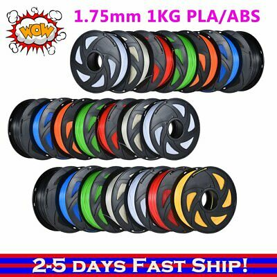 3D Printer Filament 1.75mm ABS PLA 1KG/Roll Multiple Colours Art Aussie SE