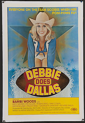 Debbie Does Dallas 1978 Original U.S 1sh Affiche sur Lin Bambi Woods Robin Byrd