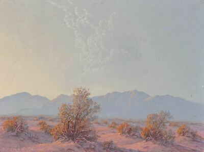 Original Vintage Western Art California Desert `Sunset Landscape Painting