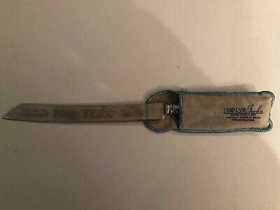 """Vintage  """"Blade"""" Made in Sheffield England 12.5"""" Engraved Carving Edged Knife."""