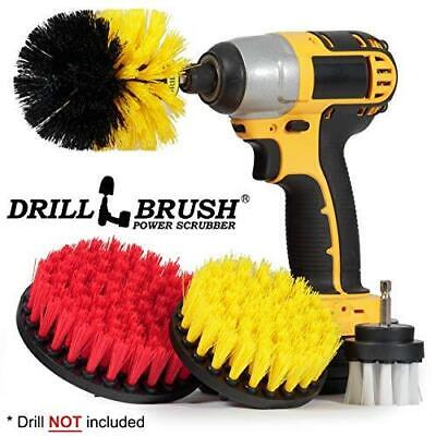 Drillbrush 4 Piece Scrub Brush Drill Attachment Kit - Drill Powered Cleaning Bru
