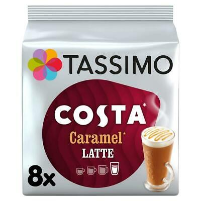 Tassimo Costa Caramel Latte Coffee Pods (Pack of 5, Total 40 - Pack 5