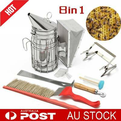 8 in 1 Beekeeping Bee Smoker Large Equipment Tool Tamer Heat Shield Protection