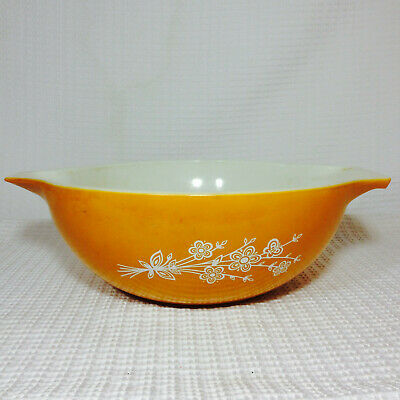 Vintage Pyrex Dish #444 Butterfly Gold 1970's Mixing Bowl Nesting Bowl