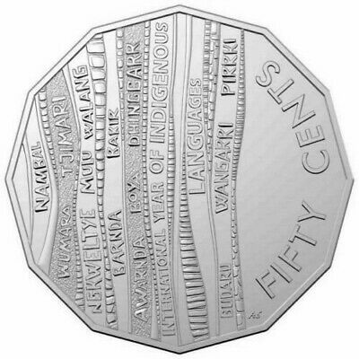 FREE POSTAGE 2019 International Year of Indigenous Languages 50 Cent Coin UNC