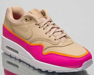 hot sale online 78634 bd1b0 Nike Air Max 1 SE Women s New Desert Ore Pink Lifestyle Sneakers 881101-202