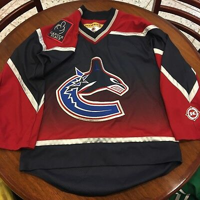 3819498fd6a NHL CCM Vancouver Canucks Jersey adult Size S Made in Canada Canuck Place  RARE