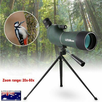 20-60x60mm Waterproof Zoom Spotting Scope Monocular Birdwatching Telescope Tripo