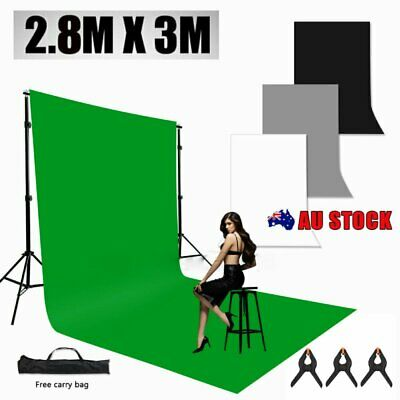 Photography Studio Heavy-Duty Backdrop Support Background Stand Screen Stand Kit