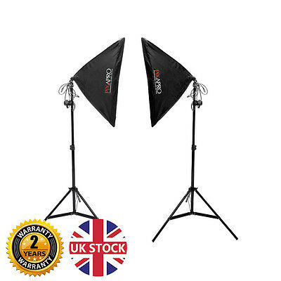 Iluminación Continua Kit Softbox Fotografía Producto Luces Video UK Stock 1050W