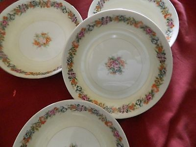Narumi China Soup Bowls Stratford Occupied Japan Set of 4 Bowls Vintage