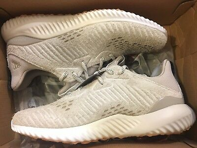 cf2f1ee5454a2 New Adidas Alphabounce Lea Suede Clear Brown By3122 Running Shoes Men Size  7.5