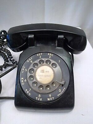 Vintage Black Telephone Bell System Property Not For Sale Western Electric Rare""