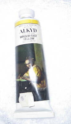 NEW-Winsor Newton Griffin Alkyd Oil Color 37ml/CC Tube Permanent 669 W F YELLOW
