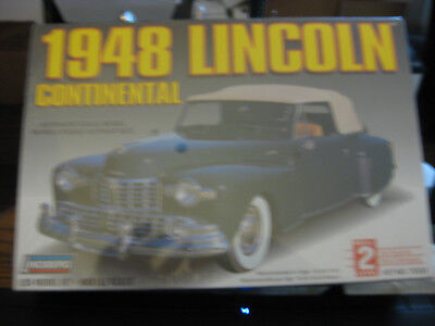 Lindberg 1948 Lincoln Continental skill level 2 factory sealed