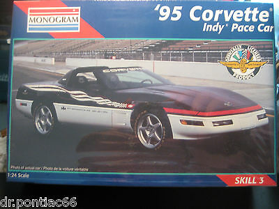 Monogram 1995 CORVETTE INDY PACE CAR FACTORY SEALED 1/24 SCALE RELEASE DATE 1996