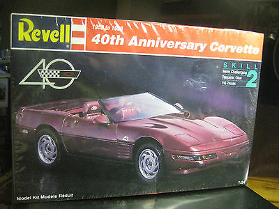 Revell1993 Release Of The 40Th Anniversary Corvette Kit 1/24 Scale F/sealed