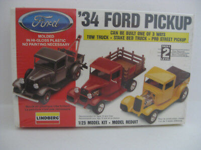 Vintage Lindberg Kit 1934 Ford Pickup Truck Release In 1993  F/seal 1/25 Scale